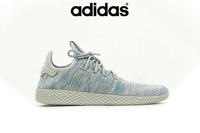 2018 Scarpe Adidas Preventivo - Blu Adidas X Pharrell Williams Pw Tennis Hu Taglie Razza Umana Blu / Rosa 5 By2671 Bgkotv2579